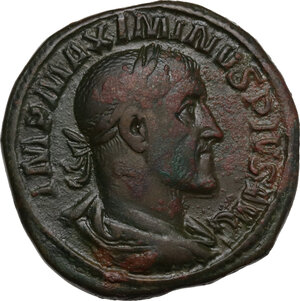 obverse: Maximinus I (235-238).. AE Sestertius, 235-236 AD