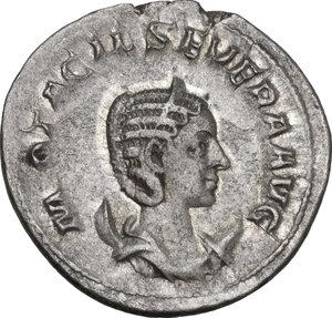 obverse: Otacilia Severa, wife of Philip I (244-249).. AR Antoninianus, Rome mint