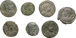 obverse: Roman Empire. Constantine the Great and his family.. Multiple lot of seven (7) unclassified AE 3, including Helena