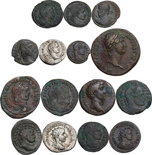 obverse: The Roman Empire.. Multiple lot of fifteen (15) unclassified coins