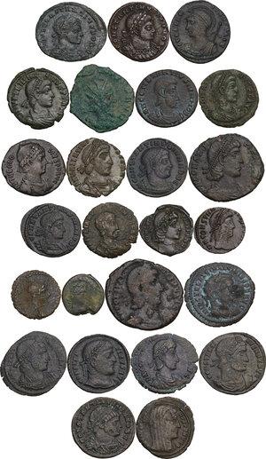 obverse: The Roman Empire.. Multiple lot of twenty-five (25) unclassified AE, late Empire