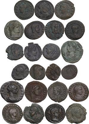 obverse: The Roman Empire.. Multiple lot of twenty-three (23) unclassified AE Follis, late Empire