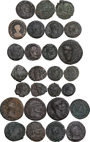 obverse: Roman Empire to Byzantine Empire.. Multiple lot of twentyseven (27) unclassified coins
