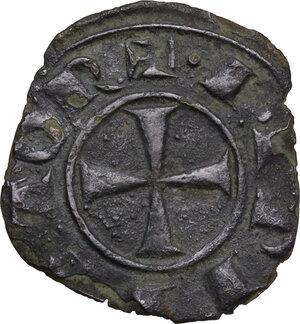 obverse: Brindisi.  Federico II (1197-1250).. Denaro, 1225