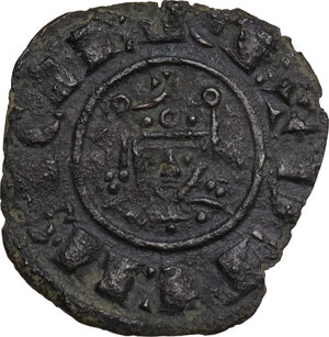 reverse: Brindisi.  Federico II (1197-1250).. Denaro, 1225