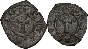 obverse: Brindisi.  Carlo I d Angiò (1266 -1282). Lotto di due (2) denari
