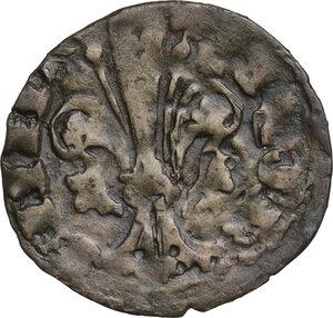obverse: Firenze.  Repubblica (Sec. XIII-1532). Quattrino III serie 1371-1373 (?) , segno non identificabile