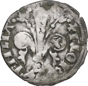 obverse: Firenze.  Repubblica (1189-1532).. Quattrino 1373 II sem., Bartolo di Giovanni Siminetti maestro di zecca