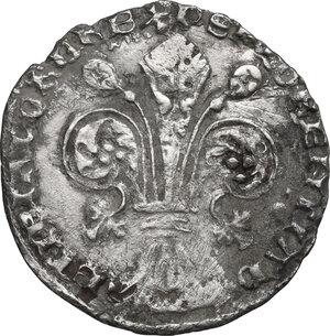 obverse: Firenze.  Repubblica (1189-1532).. Grosso da 5 soldi e 6 denari 1408 II sem., Jacopo di Rainerio Sassolini maestro di zecca