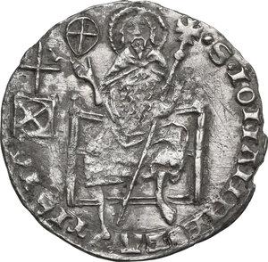 reverse: Firenze.  Repubblica (1189-1532).. Grosso da 5 soldi e 6 denari 1408 II sem., Jacopo di Rainerio Sassolini maestro di zecca