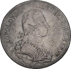 obverse: Firenze.  Pietro Leopoldo di Lorena (1765-1790). . Francescone 1781. Sigle L.S. (Luigi Siries, incisore) e accette decussate (Antonio Fabbrini, zecchiere)