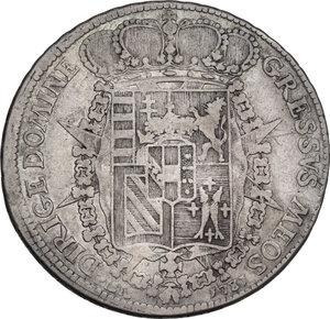 reverse: Firenze.  Pietro Leopoldo di Lorena (1765-1790). . Francescone 1781. Sigle L.S. (Luigi Siries, incisore) e accette decussate (Antonio Fabbrini, zecchiere)