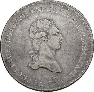 obverse: Firenze.  Ludovico I di Borbone (1801-1803). Francescone 1802. Sigle L.S. (Luigi Siries, incisore) e unicorno (Francesco Grobert zecchiere)