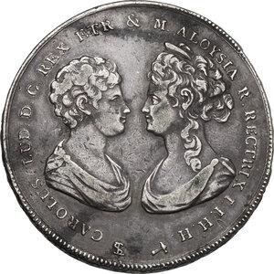 obverse: Firenze.  Carlo Ludovico di Borbone e Maria Luigia reggente (1803-1807). Scudo da 10 Paoli o Francescone 1806