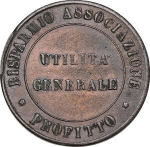 reverse: Firenze.  Lega Economica Alimentaria. Gettone da 1 lira