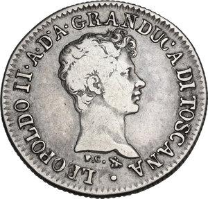 obverse: Firenze.  Leopoldo II di Lorena (1824-1859). Fiorino 1830 P C (Pietro Cinganelli, incisore) e monti araldici (Cosimo Ridolfi, direttore di zecca)
