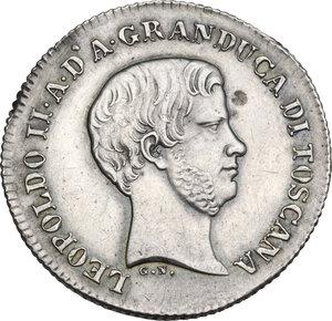 obverse: Firenze.  Leopoldo II di Lorena (1824-1859). Fiorino 1856, G N (Giuseppe Niderost, incisore)