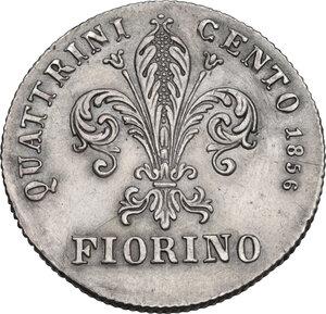 reverse: Firenze.  Leopoldo II di Lorena (1824-1859). Fiorino 1856, G N (Giuseppe Niderost, incisore)