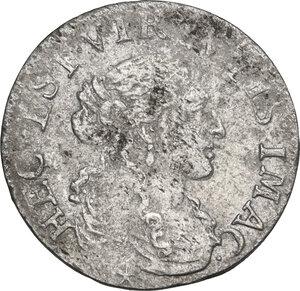 obverse: Fosdinovo.  Maria Madalena Centurioni, moglie di Pasquale Malaspina (1663-1669).. Luigino 1666
