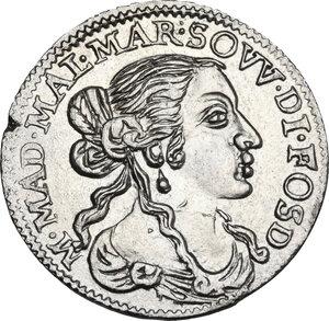 obverse: Fosdinovo.  Maria Maddalena Centurioni (1663-1669), moglie di Pasquale Malaspina. Luigino 1667