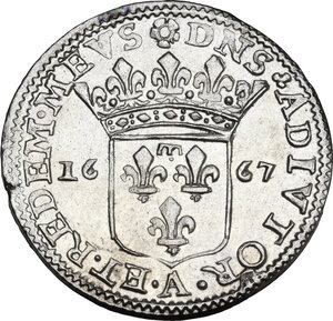 reverse: Fosdinovo.  Maria Maddalena Centurioni (1663-1669), moglie di Pasquale Malaspina. Luigino 1667
