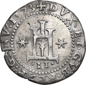 obverse: Genova.  Dogi Biennali (1528-1797), II fase (1541-1637).. Mezzo Scudo 1573