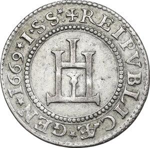 obverse: Genova.  Dogi Biennali (1528-1797), III fase (1637-1797).. Cavallotto 1669
