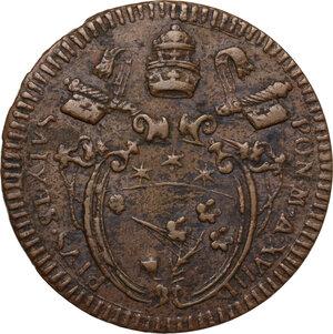 obverse: Gubbio.  Pio VI (1775-1799), Giovanni Angelo Braschi. Baiocco A. XVIII