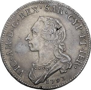 obverse: Vittorio Amedeo III (1773-1796).. Mezzo Scudo 1793