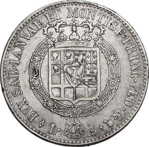 reverse: Vittorio Emanuele I (1802-1821).. 5 Lire 1818 Torino