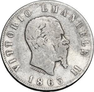 obverse: Vittorio Emanuele II  (1861-1878).. 2 Lire 1863 Torino