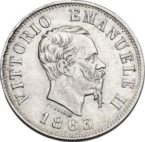 obverse: Vittorio Emanuele II  (1861-1878).. 50 Centesimi 1863 Milano