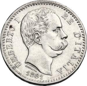 obverse: Umberto I (1878-1900).. 2 Lire 1881