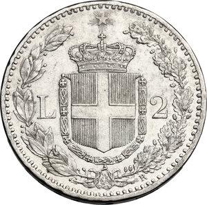 reverse: Umberto I (1878-1900).. 2 Lire 1881