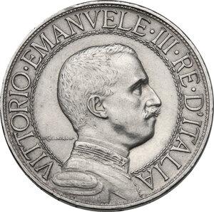 obverse: Vittorio Emanuele III (1900-1943). 2 lire 1908