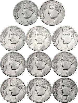 obverse: Vittorio Emanuele III (1900-1943). Lotto di undici (11) monete da 20 centesimi: 1908, 1909, 1910, 1911, 1912, 1913, 1914, 1919, 1920, 1921, 1922