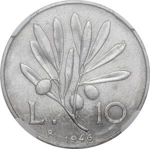 reverse: 10 Lire 1946