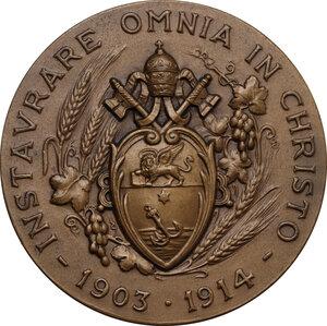 reverse: Pio X (1903-1914), Giuseppe Melchiorre Sarto. Medaglia (1951) per la Beatificazione di Pio X