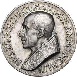 obverse: Pio XII (1939-1958), Eugenio Pacelli.. Medaglia straordinaria 1953 per il Nuovo Collegio Americano del Nord