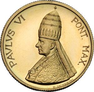 obverse: Paolo VI (1963-1678), Giovanni Battista Montini.. Medaglietta per la Visita alle Nazioni Unite, 1965