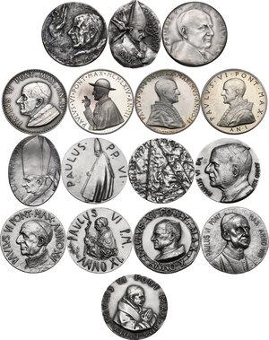 obverse: Paolo VI (1963-1678), Giovanni Battista Montini di Concesio. . Serie completa di sedici (16) medaglie annuali, A. I- XVI in argento