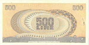reverse: Banconote. Repubblica Italiana. 500 lire Aretusa. 1975. Serie sostitutiva. Gig.BS25Da.