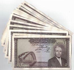 obverse: Banconote. Estere. Tunisia. Lotto di 22 pezzi del 5 Dinar 1958.