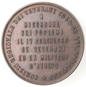 reverse: Medaglie. Napoli. Medaglia per il comizio dei veterani 1848-49. Ae.
