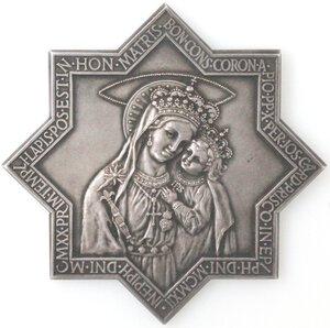 obverse: Medaglie. Napoli-Boscotrecase. Cardinale Giuseppe Prisco. 1898-1923. Medaglia commemorativa della Madonna del Buonconsiglio. Ag.