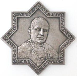 reverse: Medaglie. Napoli-Boscotrecase. Cardinale Giuseppe Prisco. 1898-1923. Medaglia commemorativa della Madonna del Buonconsiglio. Ag.