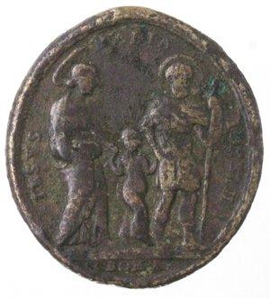 obverse: Medaglie. Roma. Medaglia Devozionale XVII Sec. Ae. D/ Sacra Famiglia.