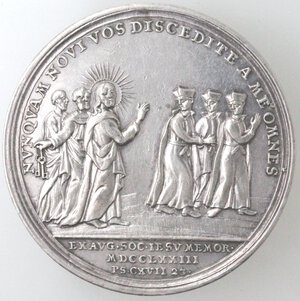reverse: Medaglie. Roma. Clemente XIV. 1769-1774. Medaglia 1773. Anno V. Ag.