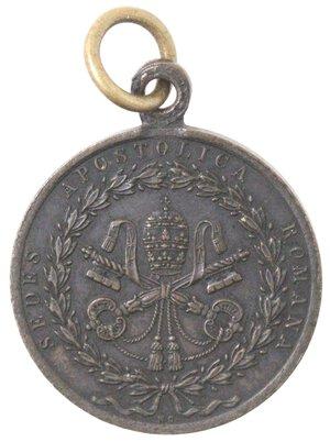 obverse: Medaglie. Roma. Pio IX. 1846-1878. Medaglia 1849. Ae. Per i difensori della Santa Sede.