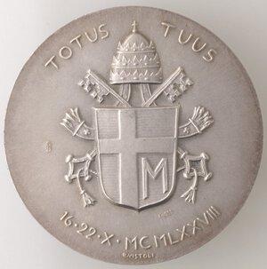 reverse: Medaglie. Roma.Giovanni Paolo II. 1978-2005, Karol Wojtyla.Medaglia 1978, A. I.Ag.